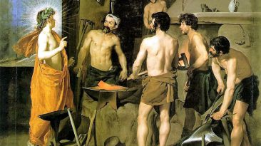 La fucina di Vulcano (La Fuega de Vulcano). Diego Velazquez, Museo del Prado, 1630