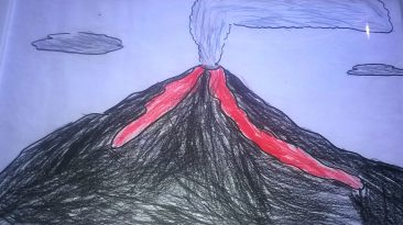 Etna in eruzione, la fantasia di un bimbo ..