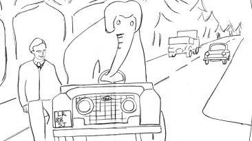 L'elefante al volante