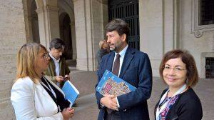Agata Puglisi a Roma con il ministro Dario Franceschi e la presidente del Parco Marisa Mazzaglia