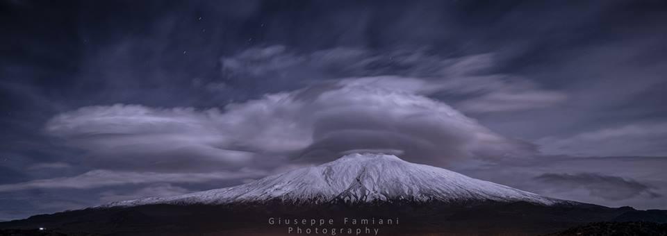 Etna al chiaro di luna di Giuseppe Famiani