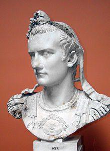Busto di Caligola, imperatore romano, a Copenaghen