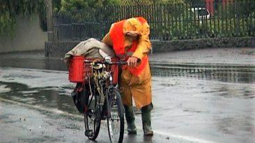 Il vecchietto del Vulcano in bici