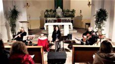 Un momento del recital di Oriana Civile