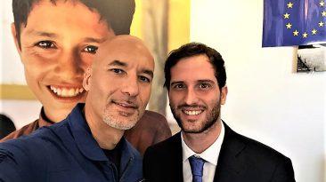 """Diego Cimino a Roma  con l'astronauta catanese Luca Parmitano: due straordinari """"ambasciatori di Sicilia"""""""