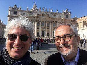 Fabrizio Villa e Nicola Savoca oggi a San Pietro