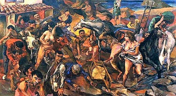 Renato Guttuso, fuga dall'Etna. 1940