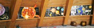 L'interno dell'Astro-pagghiaru. L'esterno nella foto con il titolo