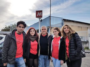 Tra i miei inviati molto speciali: da sinistra Raffaele Carpentieri, Federica Lo Sciuto, Roberta La Spina, Anna Mangiameli