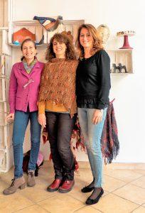 """Le """"Trame"""": da sinistra Manuela Russo, Roberta Scicali e Giusi Grasso"""