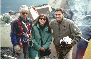 1992: cantiere delle operazioni, con inviata TG5 e STV Amadio