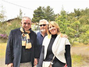 Con Antonio Presti e Marisa Mazzaglia