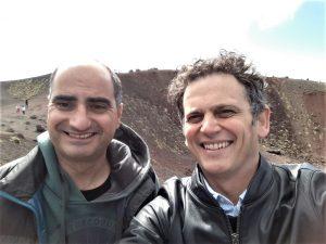 Selfie sul'Etna per Rosario Catania e Alessio Zucchini