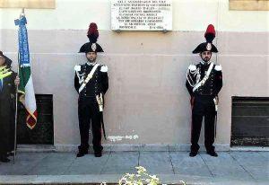 La commemorazione di oggi a Monreale. Nella foto con il titolo, la lapide in via Scobar, luogo del triplice omicidio mafioso