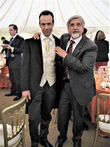 Con Marco Gambino, nel Kent, il giorno del suo matrimonio