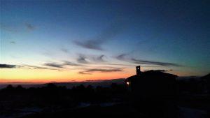 tramonto sul rifugio piano dei grilli
