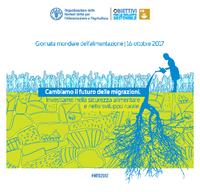Il poster ufficiale FAO per la giornata mondiale dell'alimentazione 2017