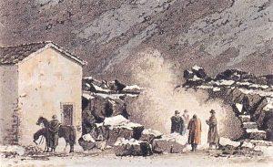La Casa degli Inglesi in una incisione d'epoca (dal sito www.caicatania.it)
