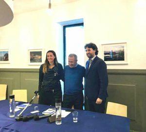 Andrea Orlando, il primo da destra, con Angelo Barone ed Emanuela Zocchi