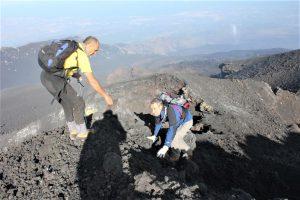 Mario Mattia e Carmelo Ferlito sull'Etna