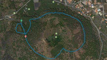 Il percorso di parkrun ai Monti Rossi di Nicolosi