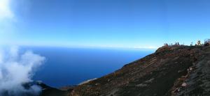 : una immagine dell'esperimento sullo Stromboli (credits: HPHT lab INGV)