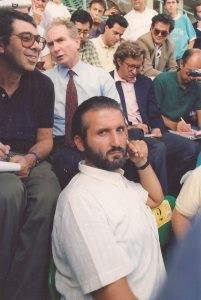 Con Azeglio Vicini a Palermo per Italia-Olanda del 26 settembre 1990
