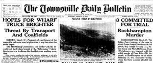 Eruzione del 1947, quotidiano australiano