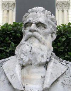 Il busto di Sciuti a Zafferana