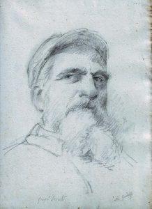 Giuseppe Sciuti, disegno del suo maestro Antonino Gandolfo.