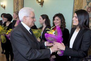 Il presidente offre le mimose alla bravissima attrice Valeria Solarino