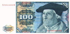 La banconota da 100 Marchi circolata dal 1962 al 1995