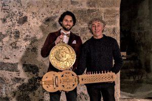 Andrea Orlando e il maestro Giuseppe Severini, in occasione della presentazione a Castello Ursino