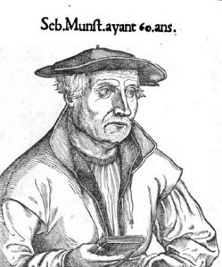 Ritratto di Münster all'età di 60 anni (dall'edizione francese del 1552)