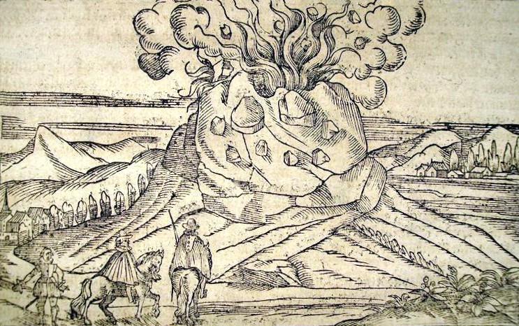Stampa tratta dall'ultima edizione (1628)  della Cosmographia Universalis  (collezione personale)