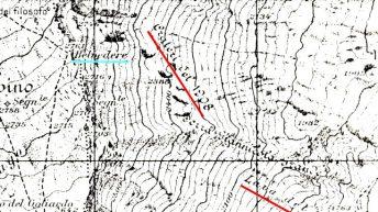Un particolare dalla Carta Topografica M.ETNA SUD dell'I.G.M. (edizione del 1932)