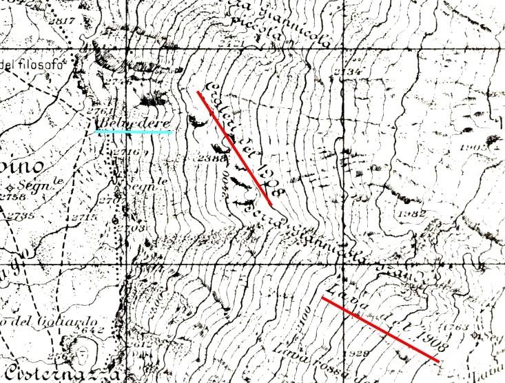 Cartina Topografica.Un Particolare Dalla Carta Topografica M Etna Sud Dell I G M Edizione Del 1932 Il Vulcanico