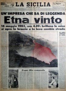 2 Le due prime pagine complete del quotidiano La Sicilia del 14 maggio 1983 a confronto