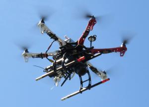 Il drone utilizzato per l'acquisizione fotografica