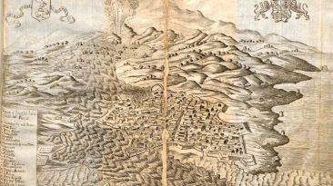 Illustrazione dal Breve Raguaglio degl'Incendi di Mongibello avvenuti in quest'anno 1669