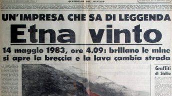 La Sicilia, prima pagina del 14 maggio 1983, seconda versione (collezione personale)