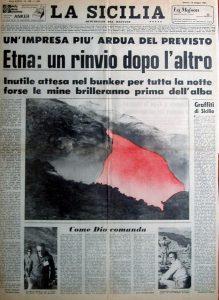Le due prime pagine complete del quotidiano La Sicilia del 14 maggio 1983 a confronto