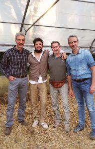 Da sinistra: Sergio Mangiameli, Valerio Valino, Marco Neri e Mario Mattia, tra i protagonisti della giornata