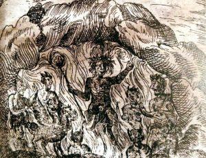 Particolare da una illustrazione di Morabito