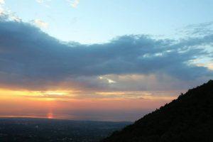 L'alba di Ferragosto a Monte ilice