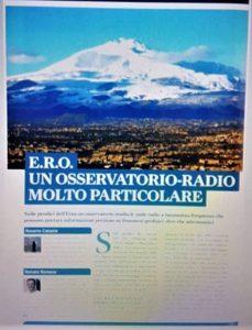 """La prima delle 7 pagine del servizio dedicato a ERO su """"Le Stelle"""" nel numero di giugno 2018"""