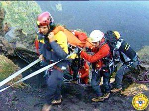 Una esercitazione di soccorso nella Valle del Bove