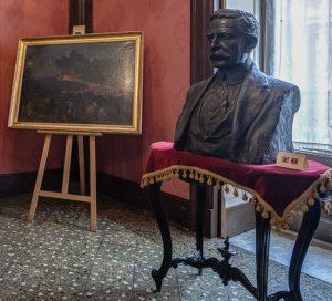 Il quadro di Sciuti nella Casa Museo Verga (foto del Polo Museale di Catania)