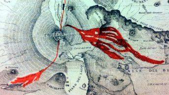 L'indicazione del toponimo Piano del Lago in una cartina di fine '800 del del Prof. Orazio Silvestri