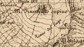 Particolare della Carta Topografica I.G.M. del 1895